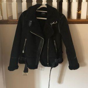 Black Sherpa winter jacket